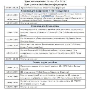 Конференция о сервисах 1С