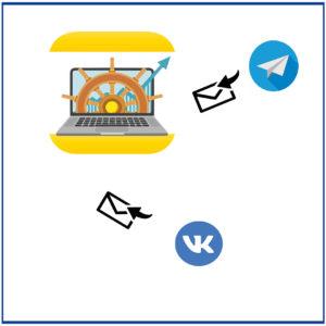 Обмен сообщениями с ВК и Телеграм в 1С:УНФ